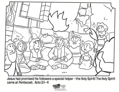 holy spirit pentecost coloring pages pentecost free coloring page based on the book of acts