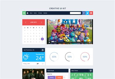 flat template bootstrap 50 freebies for web designers june 2015