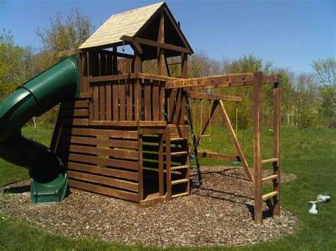 sumptuous wood playsets in minneapolis with wood