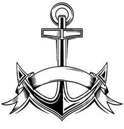 anchor color free coloring pages of boat with an anchor