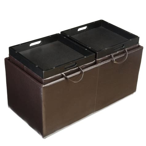 livingston storage ottoman with tray tables livingston storage ottoman with tray tables livingston