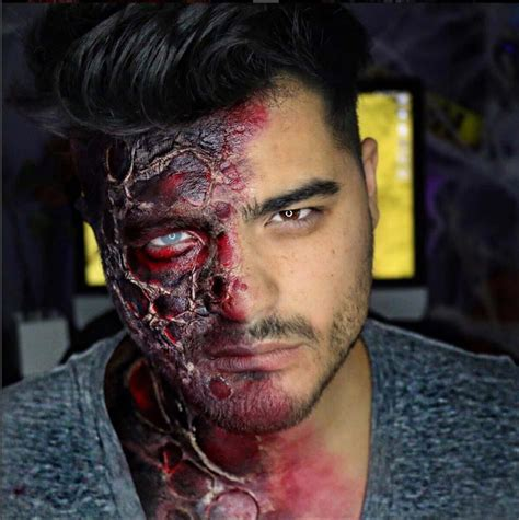 tutorial zombie uomo maquillage homme halloween 16 id 233 es pour r 233 ussir une