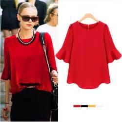 imagenes blusas rojas ropa para gorditas 2018 187 blusas rojas de gasa 3