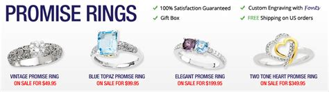 promise rings personalized for couples girlfriends
