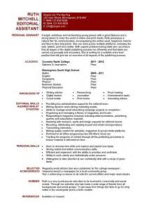 student entry level editorial assistant resume template