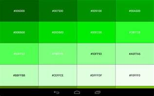 android color codes color code reference book android apps on play