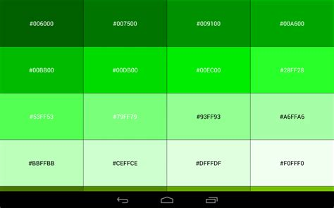 green color code color code reference book android apps on play