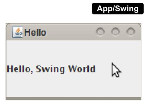 java swing hello world java learn once use anywhere