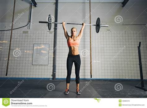 Fits Power Lifting Fitness Lifting Fitness strong doing weight lifting stock photo