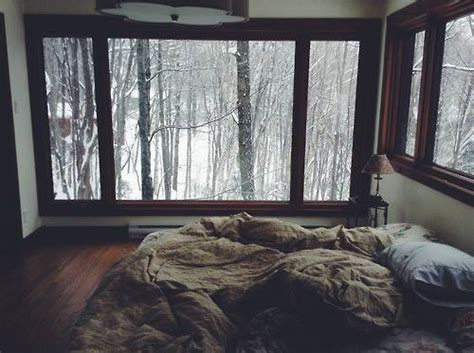 cozy winter bedroom big window interior winter 3 4 beds dream house