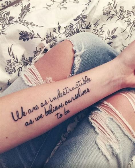 random tattoos we are as indestructible as we believe ourselves to be