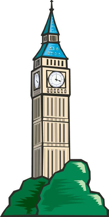 clock tower town council clock tower clipart