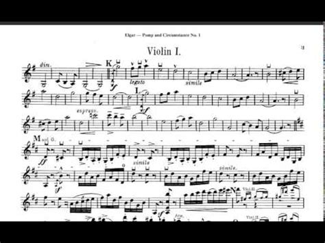 pomp circumstance and sheet music class of 2014 elgar pomp and circumstance violin sheet music youtube