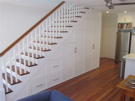 Polyurethane Kitchen Cabinets by Marks Cabinetmaking Staircase Cabinets Staircase