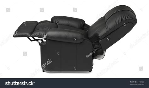 black and white recliner black leather recliner armchair massage foot stock photo