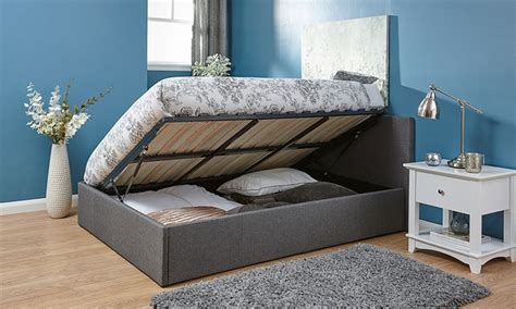 Ottoman Bed And Mattress Deal Kingsley Fabric Ottoman Bed With End Or Side Lift And Optional Mattress From 163 139 Home