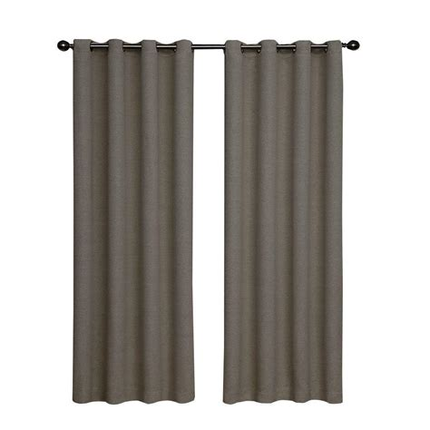home depot curtain panels eclipse bobbi blackout pewter curtain panel 63 in length