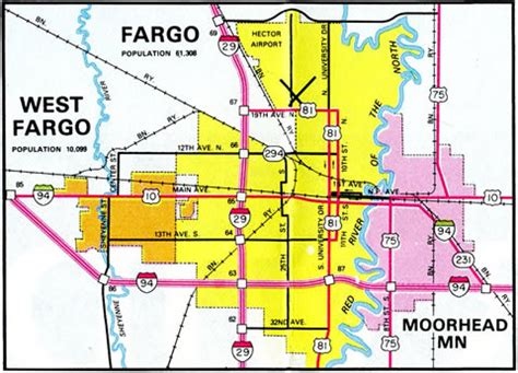 map of fargo nd downtown fargo map bnhspine