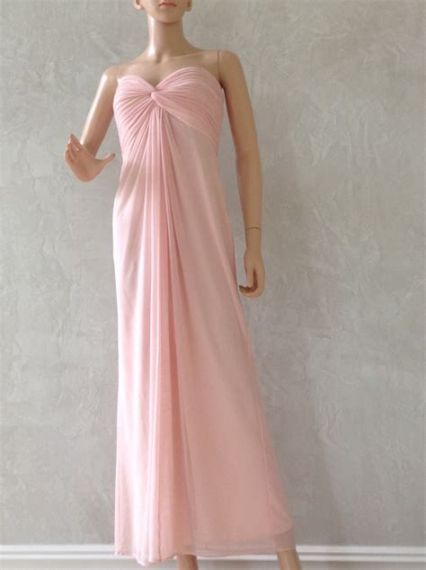 light pink evening gown tadashi light pink evening gown size s