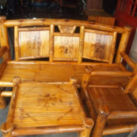 sala set bamboo home furniture  carousell