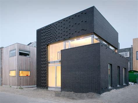 minimalist design facade modern facade boxes house concept brick minimalist style