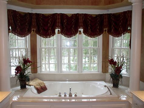Window Top Treatments Top Treatments Valances Traditional Bathroom Boston