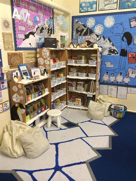 book themes ks2 antarctica themed book corner ks2 winter classroom decor
