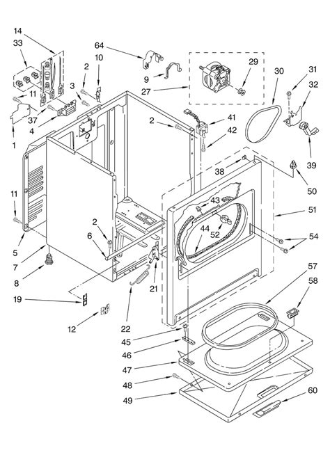 kenmore 80 series gas dryer parts diagram images diagram