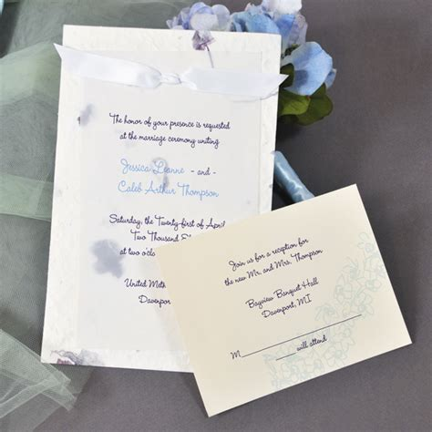 Handmade Paper Invitations - purple handmade paper invitation kit couture bridal