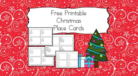 free printable place cards the help
