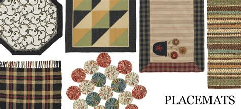 kitchen table linens placemats country shoppe