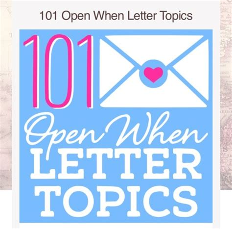 College Letter Topics 101 open when letter topics trusper