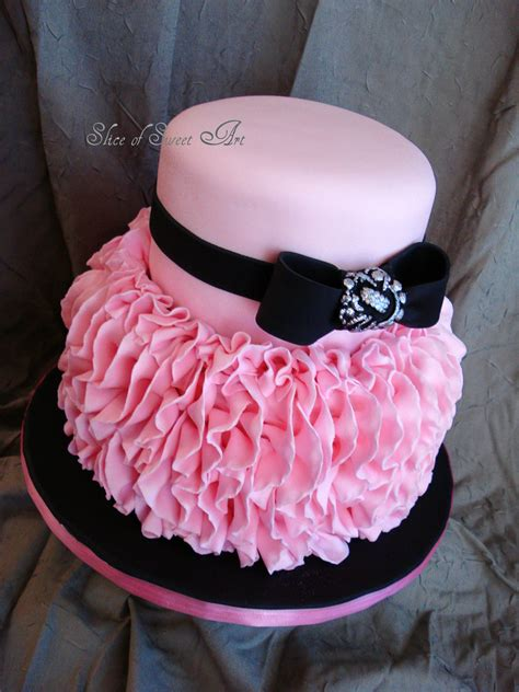 Pink Ruffle Birthday   CakeCentral.com