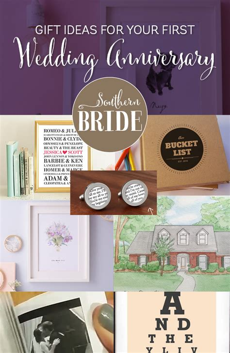 1st Wedding Anniversary Ideas by 1st Wedding Anniversary Present Ideas Southern