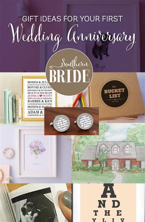 1st Wedding Anniversary Present Ideas   Southern Bride