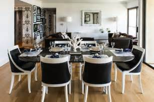 white and black dining room sets black and white chairs eclectic dining room janet rice