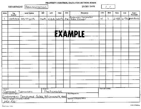 State Of Alaska Property Control Form 02 623