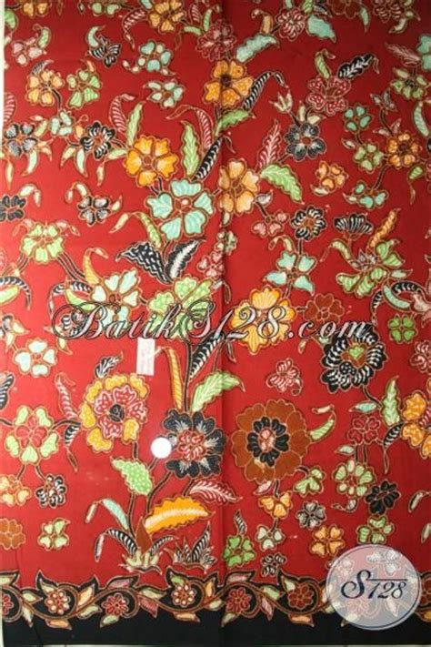 Kbt037 Batik Katun Tulis Bahan Atasan Kain Bawahan Kebaya Wanita kain batik tulis halus motif modern cocok untuk