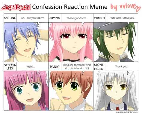 Angel Beats Memes - angel beats confession meme by vvlove on deviantart