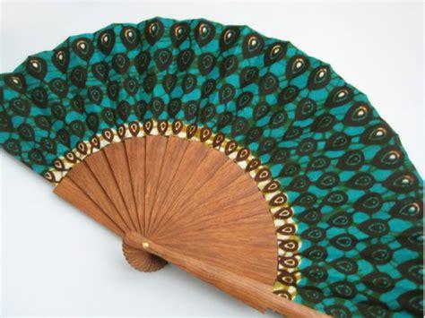 Handmade Fans - wax block print fan with sleeve abanico by olele
