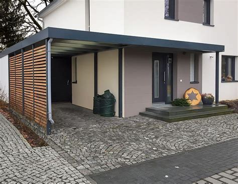 carport mit eingangs 252 berdachung siebau garten - Carport Mit überdachung Des Eingangs