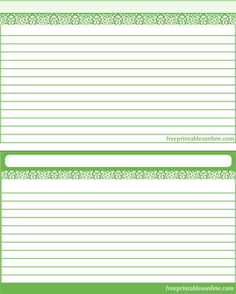 free recipe template recipe card templates free printables part 3
