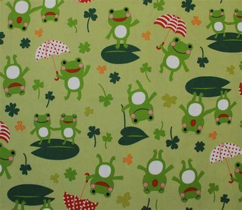 frog pattern umbrella happy frogs with umbrellas kiyohara japanese cotton