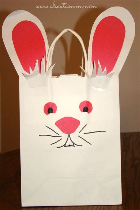 paper bag bunny template last minute easter craft easter bunny bag easter