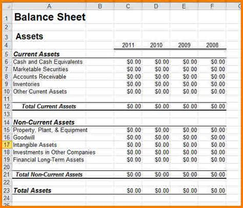 small business balance sheet template sle balance sheet for small business authorization letter pdf