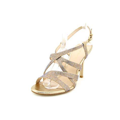 Moda Mio Gold Shoes New With Box pelle moda rinae womens size 8 gold silk dress sandals