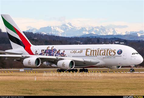 emirates zurich a6 eot emirates airlines airbus a380 at zurich photo