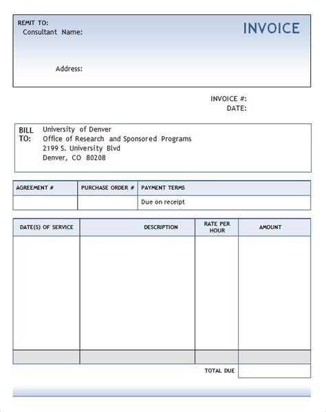 billing invoice template word best photos of consulting billing invoice consulting