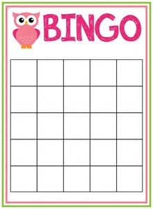 Baby Shower Bingo Card Template Baby Shower Bingo Cards Baby Shower Ideas Pinterest