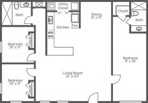 2 Bedroom 2 Bath Floor Plans Floorplans 2 Room Google Search Floorplans Pinterest